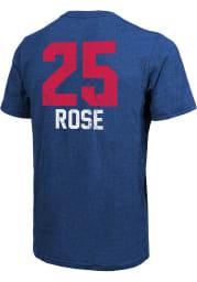 Derrick Rose Detroit Pistons Blue Aldo Short Sleeve Fashion Player T Shirt