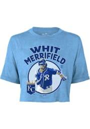 Whit Merrifield Kansas City Royals Womens Light Blue Icon Player T-Shirt