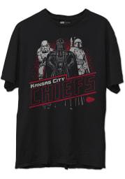 Junk Food Clothing Kansas City Chiefs Black Star Wars Empire Short Sleeve Fashion T Shirt