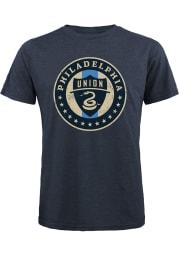 Philadelphia Union Navy Blue Team logo Short Sleeve Fashion T Shirt