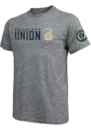 Philadelphia Union Grey Wordmark Short Sleeve Fashion T Shirt