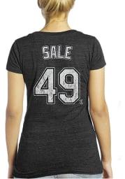 Chris Sale Chicago White Sox Womens Blue Womens Triblend V-Neck Player T-Shirt