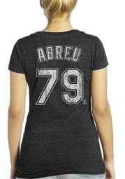 Jose Abreu Chicago White Sox Womens Black Womens Triblend V-Neck Player T-Shirt