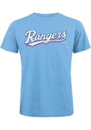 Texas Rangers Light Blue Alt Wordmark Short Sleeve Fashion T Shirt