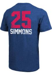 Ben Simmons Philadelphia 76ers Blue Aldo Short Sleeve Fashion Player T Shirt
