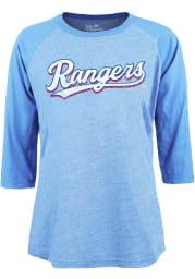 Texas Rangers Womens Light Blue Triblend LS Tee