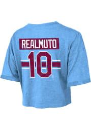 JT Realmuto Philadelphia Phillies Womens Light Blue Hard Hit Player T-Shirt