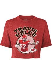 Travis Kelce Kansas City Chiefs Womens Red Player Player T-Shirt