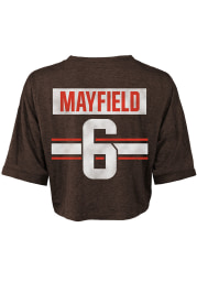 Baker Mayfield Cleveland Browns Womens Brown Player Player T-Shirt