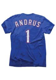 Elvis Andrus Texas Rangers Blue Tri-Blend Short Sleeve Fashion Player T Shirt
