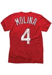 Yadier Molina St. Louis Cardinals Red yadier molina player tee Fashion Player Tee