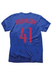 Thomas Robinsin Houston Rockets Blue Tri-Blend Short Sleeve Player T Shirt