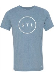 Arch Apparel St Louis Light Blue Circle Short Sleeve T Shirt
