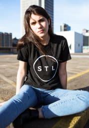 Arch Apparel St Louis Black Speckle City Circle Short Sleeve T Shirt