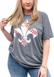 Arch Apparel St Louis Grey Fleur Seam Short Sleeve Fashion T Shirt