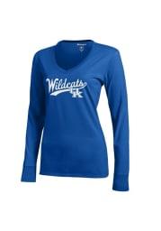 Kentucky Wildcats Juniors Blue Campus Long Sleeve T-Shirt