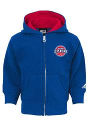 Detroit Pistons Baby Prime Long Sleeve Full Zip Sweatshirt - Blue