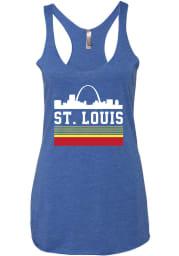 Series Six St Louis Womens Blue Retro Skyline Tank Top