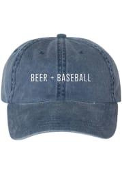 Series Six St Louis Beer and Baseball Denim Adjustable Hat - Blue