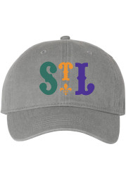 Series Six St Louis Mardi Gras Adjustable Hat - Grey