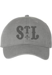 Series Six St Louis Mardi Gras Tonal Adjustable Hat - Grey