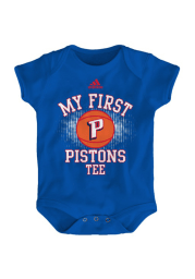 Detroit Pistons Baby Blue Infant My First Tee One Piece Short Sleeve One Piece