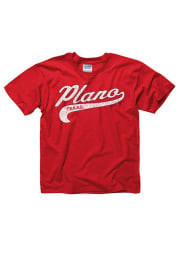 Plano Youth Red City Tailsweep Short Sleeve T Shirt