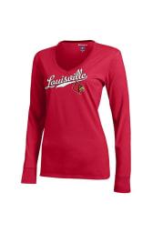 Louisville Cardinals Juniors Red Campus Long Sleeve T-Shirt