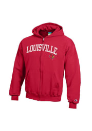 Louisville Cardinals Youth Red Arch Long Sleeve Full Zip Jacket