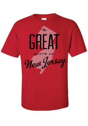 New Jersey Red The Great State of Short Sleeve T Shirt