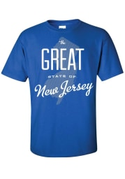 New Jersey Blue The Great State of Short Sleeve T Shirt
