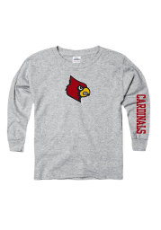 Louisville Cardinals Youth Grey Logo Long Sleeve T-Shirt