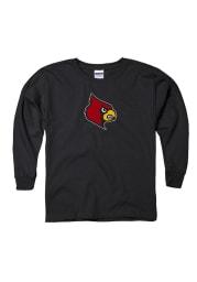 Louisville Cardinals Youth Black Logo Long Sleeve T-Shirt