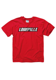 Louisville Cardinals Youth Red Rally Loud Short Sleeve T-Shirt