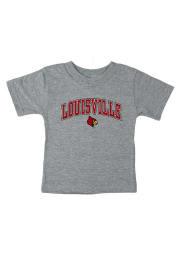 Louisville Cardinals Infant Arch Short Sleeve T-Shirt Grey