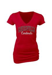 Louisville Cardinals Juniors Red Rally Loud V-Neck T-Shirt