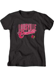 Louisville Cardinals Womens Black Scoop Short Sleeve Scoop