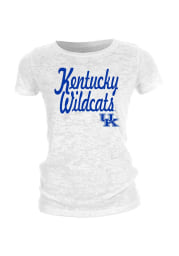 Kentucky Wildcats Juniors White Locked Out Short Sleeve Crew T-Shirt