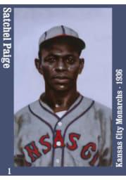 Kansas City Monarchs Satchel Paige 1936 Magnet
