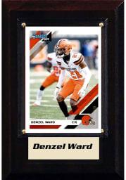 Denzel Ward Cleveland Browns Denzel Ward 4x6 Player Plaque