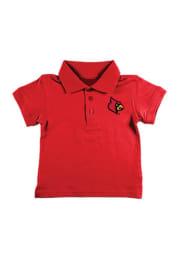 Louisville Cardinals Toddler Red Golf Short Sleeve Polo Shirt