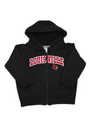Louisville Cardinals Baby Arch Long Sleeve Full Zip Sweatshirt - Black
