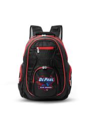 DePaul Blue Demons Black 19 Laptop Red Trim Backpack
