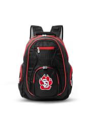 South Dakota Coyotes Black 19 Laptop Red Trim Backpack