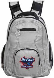 DePaul Blue Demons Grey 19 Laptop Backpack