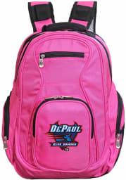 DePaul Blue Demons Pink 19 Laptop Backpack