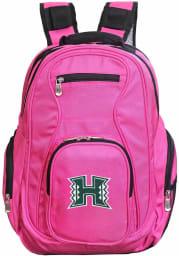 Hawaii Warriors Pink 19 Laptop Backpack