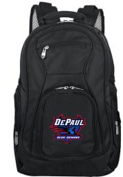 DePaul Blue Demons Black 19 Laptop Backpack