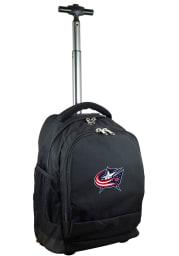Columbus Blue Jackets Black Wheeled Premium Backpack