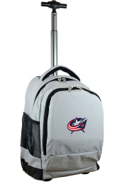 Columbus Blue Jackets Grey Wheeled Premium Backpack